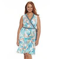 Plus Size Suite 7 Swirl Faux-Wrap Dress