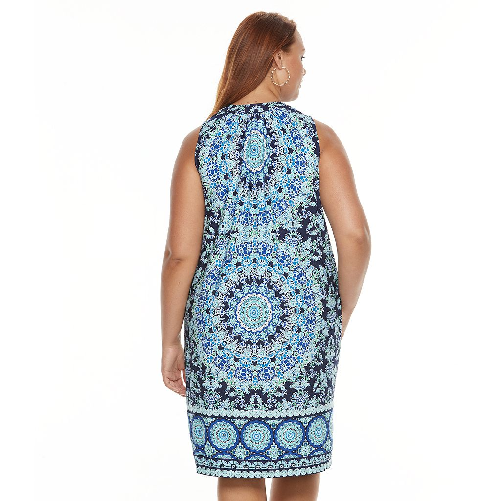 Plus Size Suite 7 Medallion Shift Dress