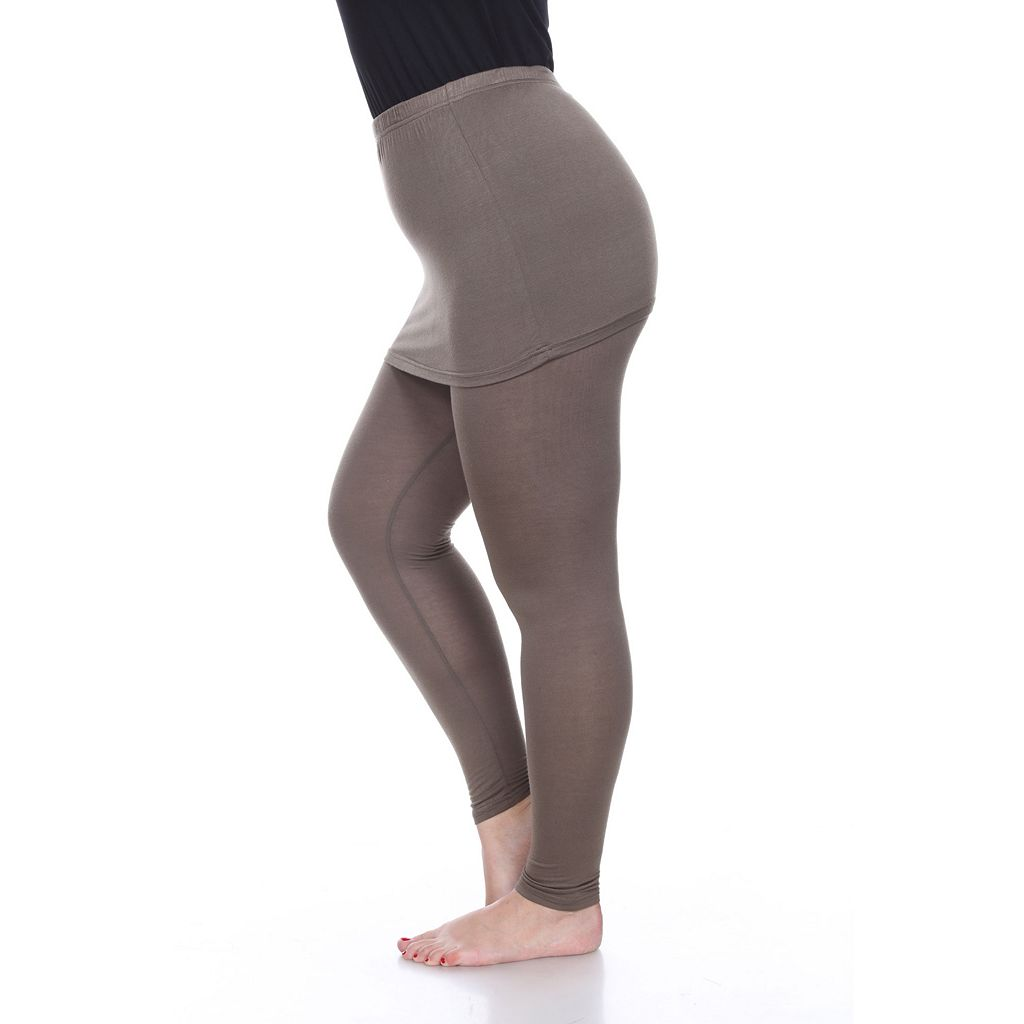 Plus Size White Mark Skirted Leggings