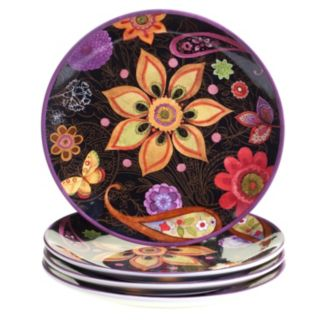 Certified International Paisley Floral 4-pc. Dinner Plate Set