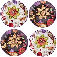 Certified International Paisley Floral 4-pc. Salad Plate Set