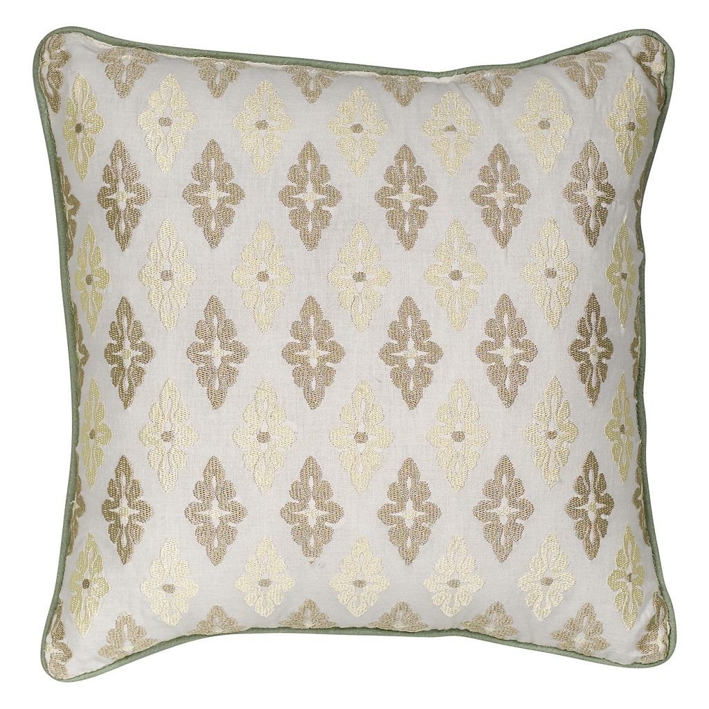 Always Home Auburn Embroidered Medallion Throw Pillow