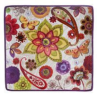 Certified International Paisley Floral 12.5-in. Square Platter