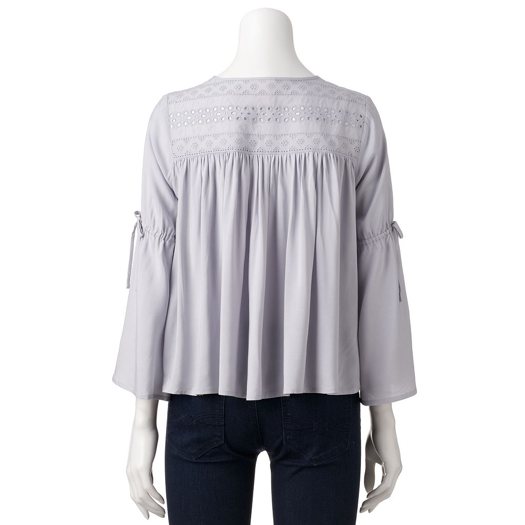 Women's LC Lauren Conrad Embroidered Eyelet Lightweight Jacket