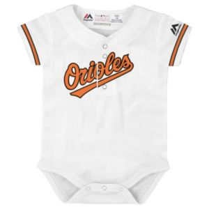 Baby Majestic Baltimore Orioles Cool Base Replica Jersey Bodysuit