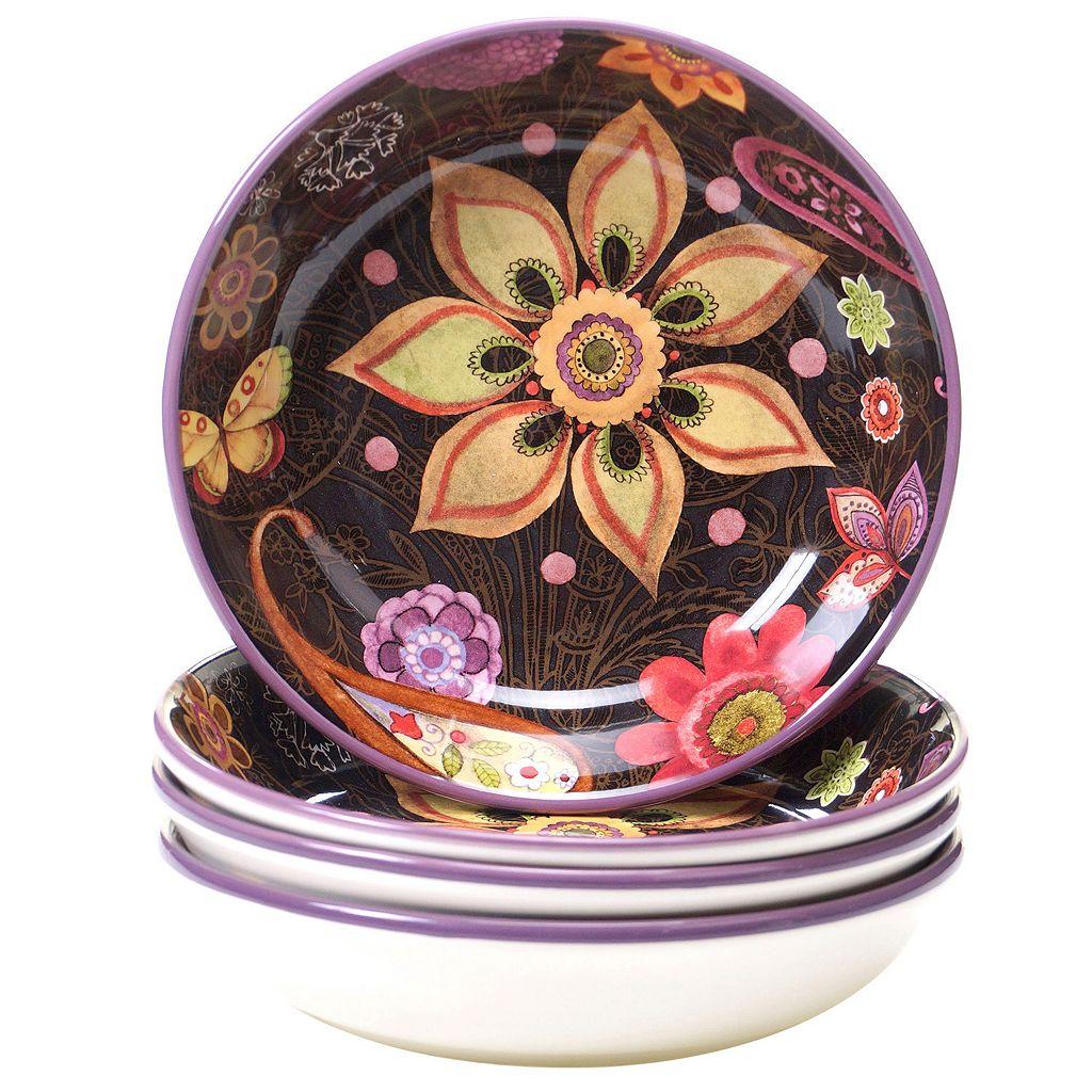 Certified International Paisley Floral 4-pc. Soup Bowl Set