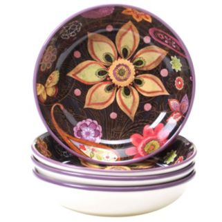 Certified International Paisley Floral 4-pc. Soup Bowl Set