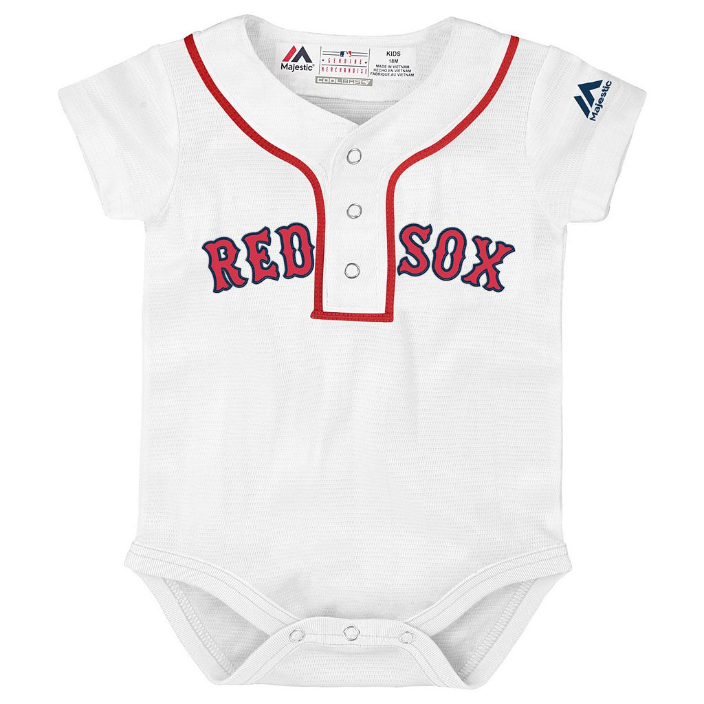 Baby Majestic Boston Red Sox Cool Base Replica Jersey Bodysuit