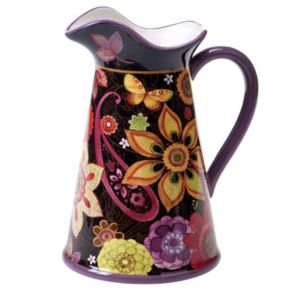 Certified International Paisley Floral 64-oz. Pitcher