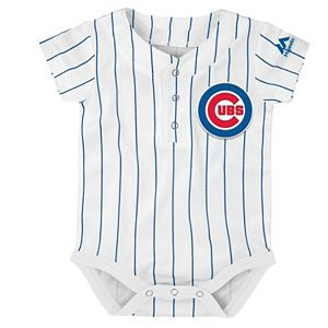 Baby Majestic Chicago Cubs Cool Base Replica Jersey Bodysuit