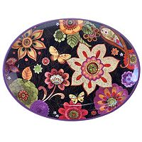 Certified International Paisley Floral 12-in. Oval Platter