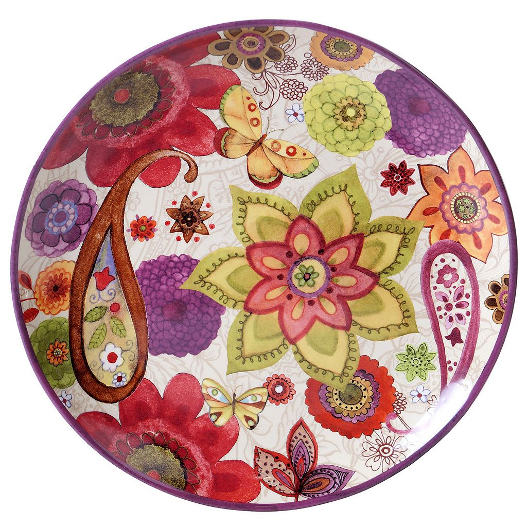 Certified International Paisley Floral 15-in. Round Platter