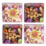 Certified International Paisley Floral 4-pc. Canape Plate Set