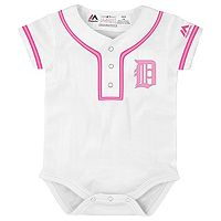 Baby Majestic Detroit Tigers Cool Base Replica Jersey Bodysuit