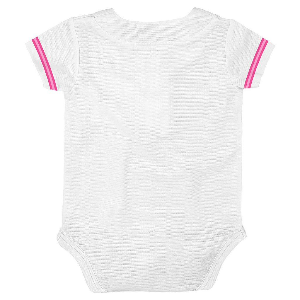 Baby Majestic Minnesota Twins Cool Base Replica Jersey Bodysuit