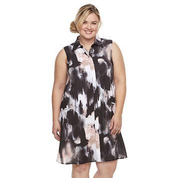 Plus Size Chaya Floral Shirtdress