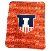 Logo Brand Illinois Fighting Illini Classic Fleece Blanket
