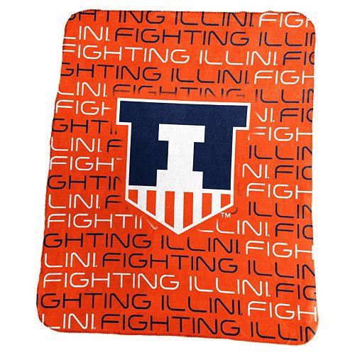 Logo Brand Illinois Fighting Illini Classic Fleece Blanket