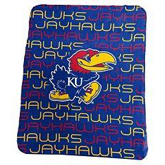 Logo Brand Kansas Jayhawks Classic Fleece Blanket