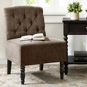 Madison Park Lola Tufted Armless Accent Chair