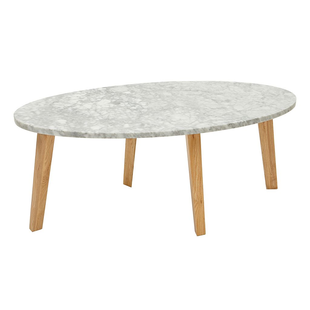 INK+IVY Milo Marble Coffee Table