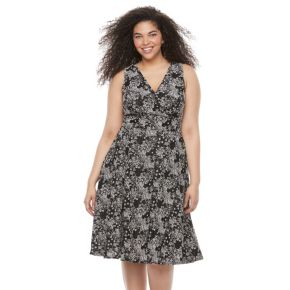 Plus Size Chaya Floral Fit & Flare Dress