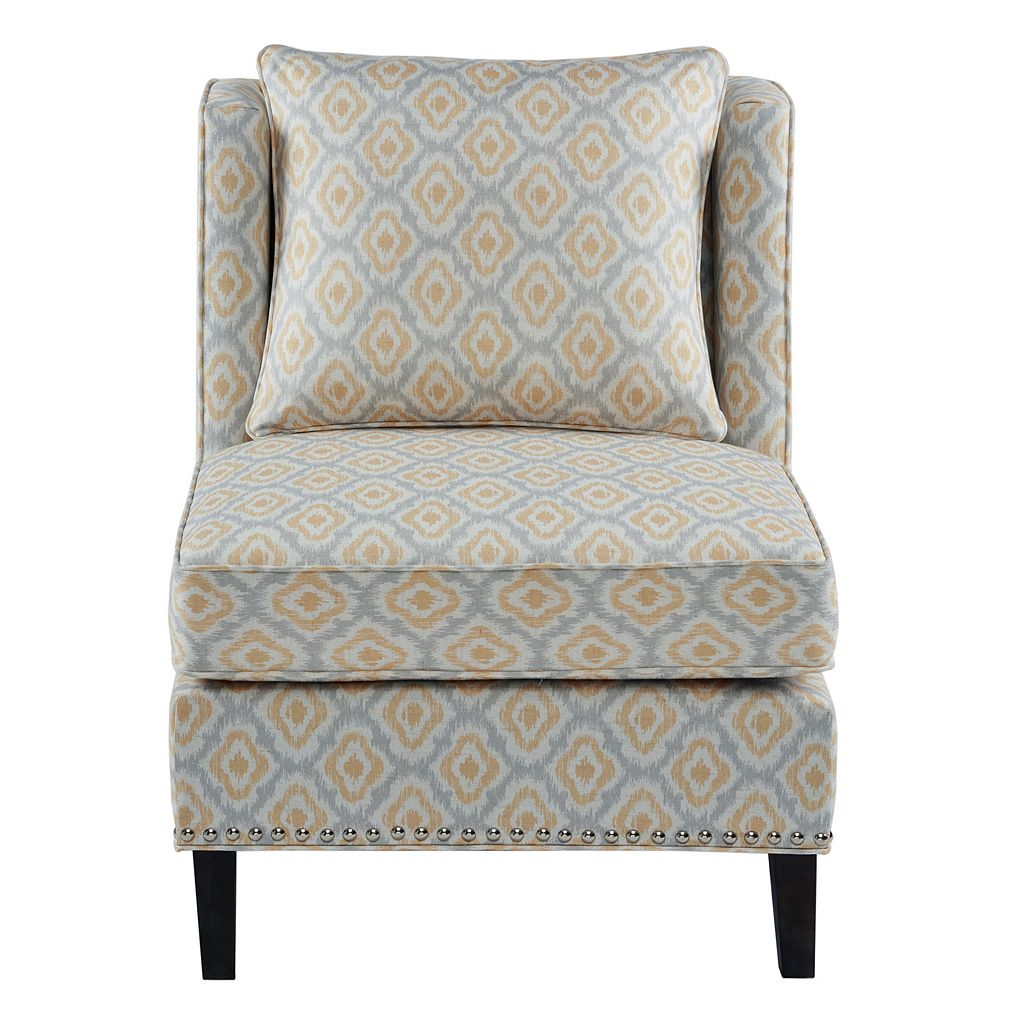 Madison Park Camron Ikat Armless Accent Chair