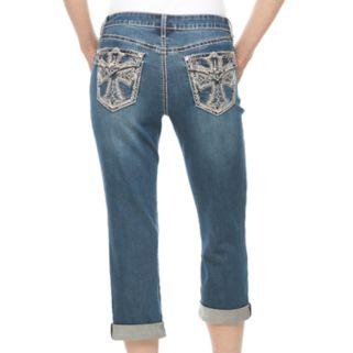 Women's Apt. 9® Embellished Flap Pocket Capri Jeans