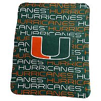 Logo Brand Miami Hurricanes Classic Fleece Blanket