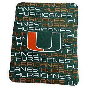 Logo Brand Miami Hurricanes Classic Fleece Blanket