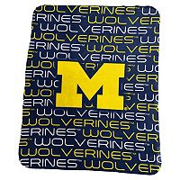 Logo Brand Michigan Wolverines Classic Fleece Blanket