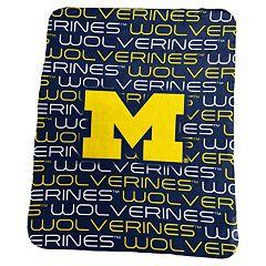 Logo Brand Michigan Wolverines Classic Fleece Blanket