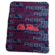 Logo Brand Ole Miss Rebels Classic Fleece Blanket