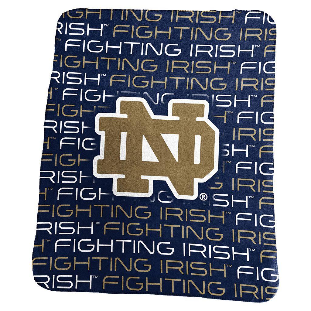 Logo Brand Notre Dame Fighting Irish Classic Fleece Blanket
