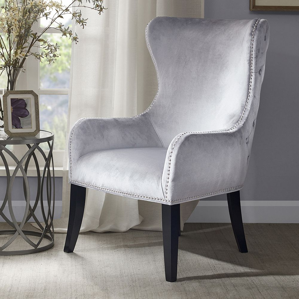 Fine Madison Park Tufted High Back Accent Chair Onthecornerstone Fun Painted Chair Ideas Images Onthecornerstoneorg