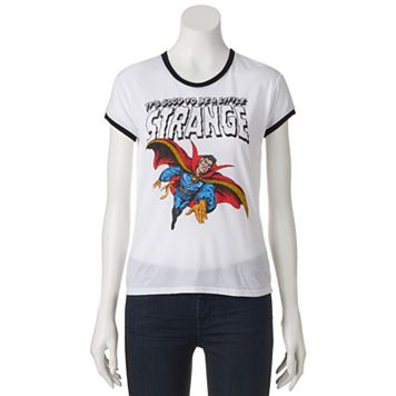 Juniors' Marvel Doctor Strange Ringer Graphic Tee