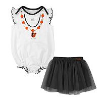 Baby Majestic Baltimore Orioles Fancy Play Bodysuit & Skirt Set