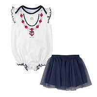 Baby Majestic Minnesota Twins Fancy Play Bodysuit & Skirt Set