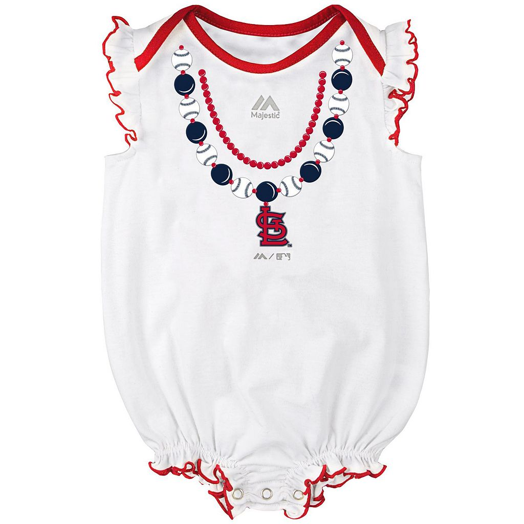 Baby Majestic St. Louis Cardinals Fancy Play Bodysuit & Skirt Set