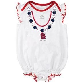 Baby Majestic St. Louis Cardinals Fancy Play Bodysuit & Skirt Set