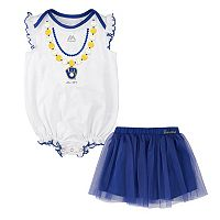 Baby Majestic Milwaukee Brewers Fancy Play Bodysuit & Skirt Set