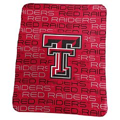 Logo Brand Texas Tech Red Raiders Classic Fleece Blanket
