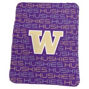 Logo Brand Washington Huskies Classic Fleece Blanket