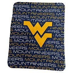 Logo Brand West Virginia Mountaineers Classic Fleece Blanket
