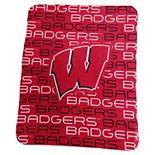 Logo Brand Wisconsin Badgers Classic Fleece Blanket