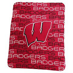 Logo Brand Wisconsin Badgers Classic Fleece Blanket