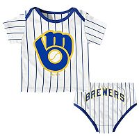 Baby Majestic Milwaukee Brewers Uniform Set