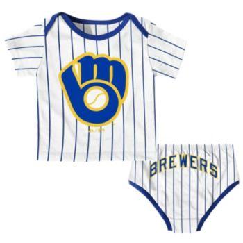 Baby Majestic Milwaukee Brewers Uniform Set