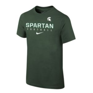 Boys 8-20 Nike Michigan State Spartans Facility Sideline Tee