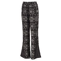 Juniors' Mudd® Crochet Wide Leg Pants